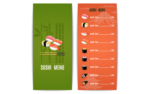 Laminated Menus and Prints